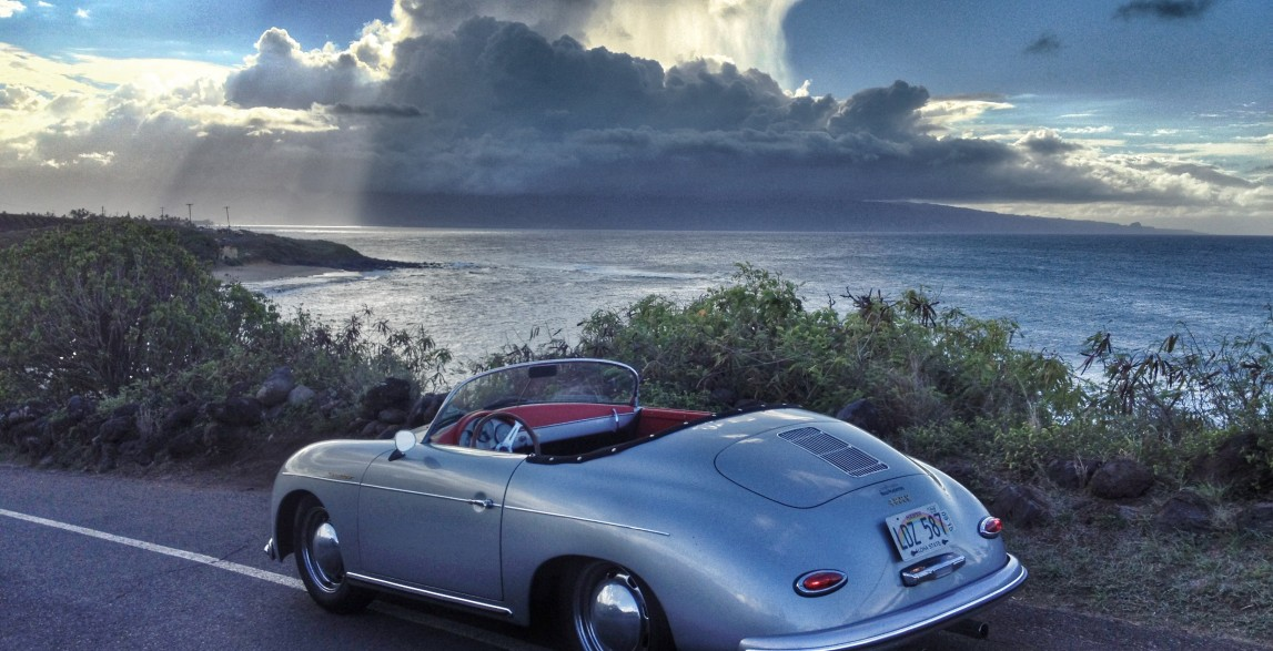 Mano Arctic Blue 1957 Porsche 356 Speedster Reproduction