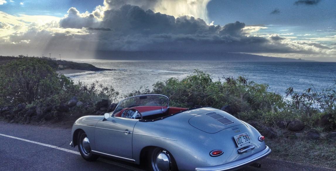 Convertible Rental Cars >> Mano: Arctic Blue 1957 Porsche 356 Speedster reproduction ...