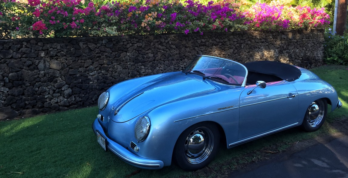 Mano Arctic Blue 1957 Porsche 356 Speedster Reproduction