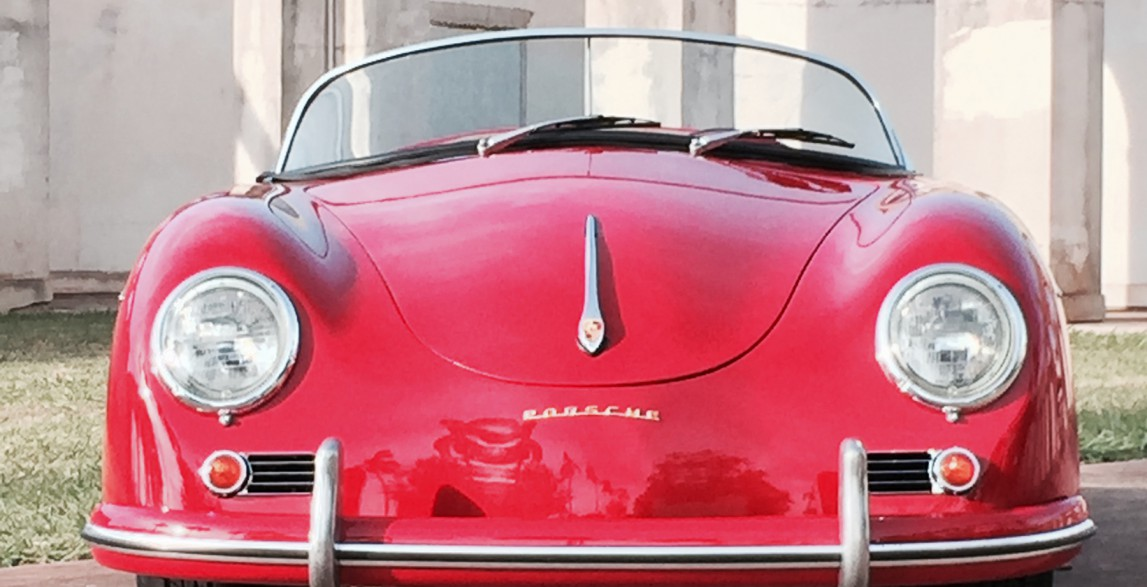 Pele Red 1957 Porsche 356 Reproduction Maui Roadsters
