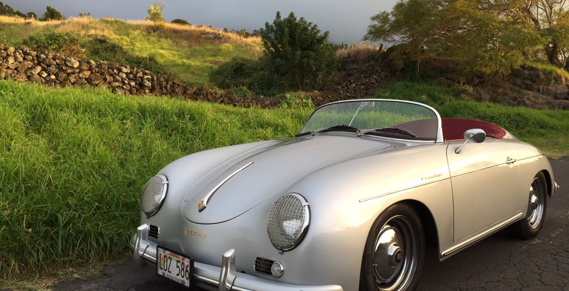 Hoku Silver 1957 Porsche 356 Speedster Reproduction